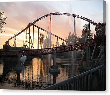 Cedar Point - Maverick - 12124 Canvas Print by DC Photographer