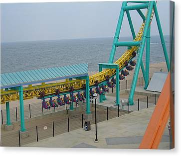 Cedar Point - Wicked Twister - 12126 Canvas Print by DC Photographer