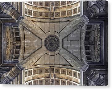 Ceiling  Arcoarua De Augusta Canvas Print by Nathan Mccreery