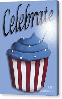 Celebrate The 4th / Blue Canvas Print by Catherine Holman