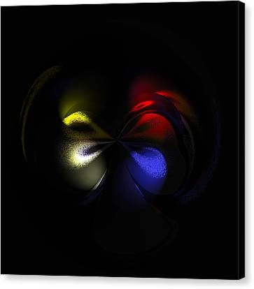 Celestial Dance Digital Art Canvas Print by Georgeta  Blanaru