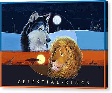 Celestial Kings With Caption Canvas Print by J L Meadows
