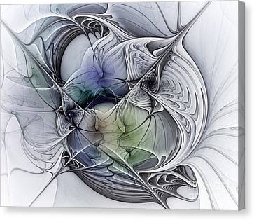 Celestial Sphere Abstract Art Canvas Print by Karin Kuhlmann