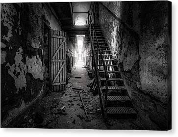 Cell Block - Historic Ruins - Penitentiary - Gary Heller Canvas Print by Gary Heller