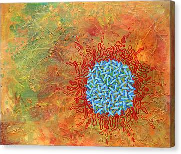 Cell No.1 Canvas Print by Angela Canada-Hopkins