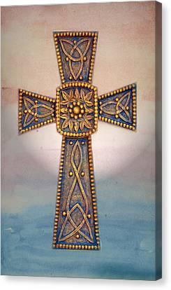 Celtic Cross Sunrise Canvas Print by Sandi OReilly