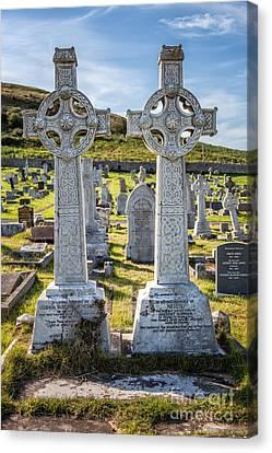 Celtic Crosses Canvas Print by Adrian Evans