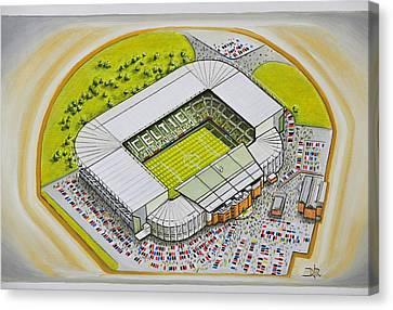 Celtic Park - Celtic Canvas Print by D J Rogers