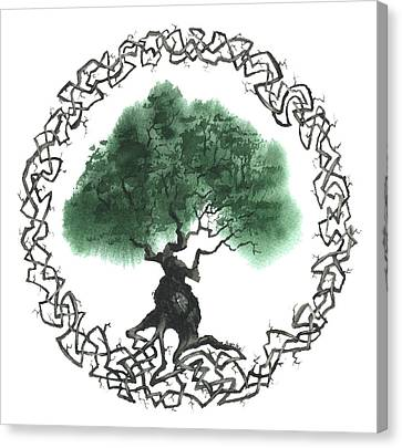 Celtic Tree Of Life 2 Canvas Print by Sean Seal