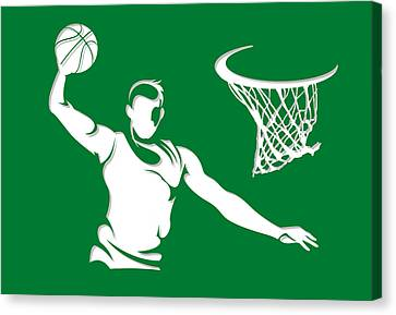 Celtics Shadow Player1 Canvas Print by Joe Hamilton