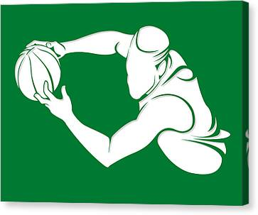 Celtics Shadow Player2 Canvas Print by Joe Hamilton