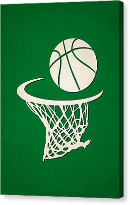 Celtics Team Hoop2 Canvas Print by Joe Hamilton