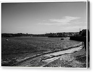 Cemaes Bay Bw Canvas Print by Georgia Fowler