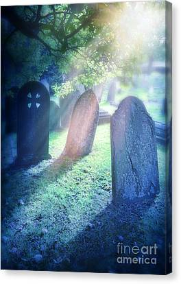 Cemetery Light Canvas Print by Jill Battaglia
