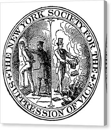Censorship Seal, 1873 Canvas Print by Granger