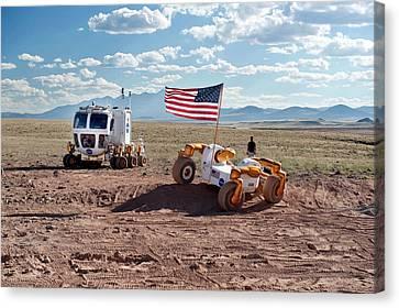 Centaur Robonaut Rover Testing Canvas Print by Nasa-johnson Space Center