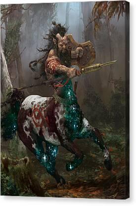 Centaur Token Canvas Print by Ryan Barger