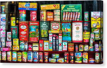 Central Grocery Essentials Canvas Print by Brenda Bryant