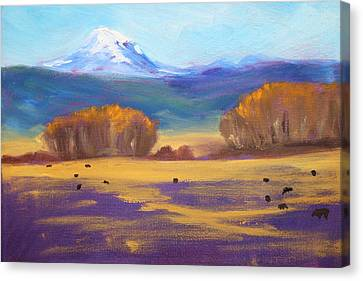 Central Oregon Canvas Print by Nancy Merkle