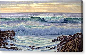 Central Pacific Surf Canvas Print by Paul Krapf