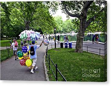 Central Park Balloon Man Canvas Print by Madeline Ellis