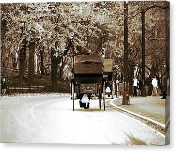 Central Park Ride Canvas Print by John Rizzuto