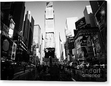 Centre Of Times Square In Daytime New York City Canvas Print by Joe Fox
