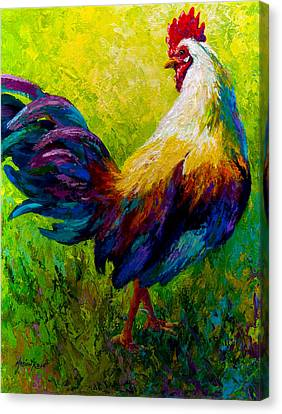 Ceo Of The Ranch - Rooster Canvas Print by Marion Rose