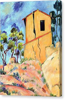 Cezanne's House With Cracked Walls Canvas Print by Jamie Frier