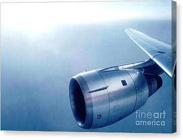 Cf6-6 Jet Engine For A Dc-10 Canvas Print by Wernher Krutein