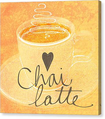 Chai Latte Love Canvas Print by Linda Woods