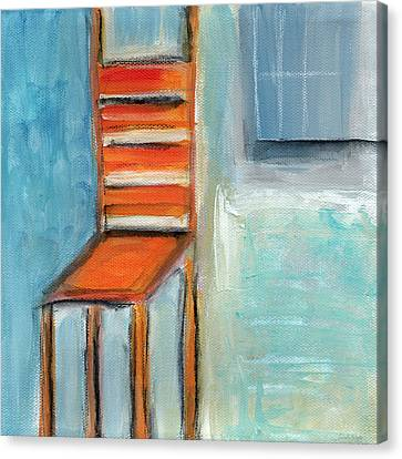 Chair By The Window- Painting Canvas Print by Linda Woods