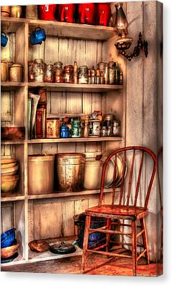 Chair - Chair In The Corner Canvas Print by Mike Savad