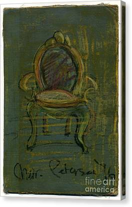 Chair Fetish '96 Canvas Print by Cathy Peterson