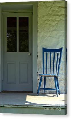 Chair On Farmhouse Porch Canvas Print by Olivier Le Queinec