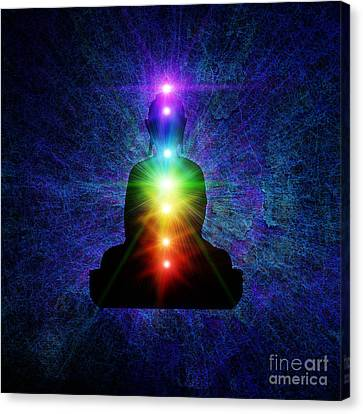 Chakra Buddha Canvas Print by Tim Gainey