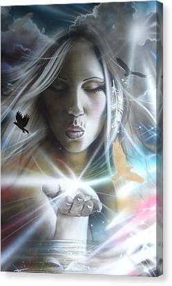Portrait - ' Chakra ' Canvas Print by Christian Chapman Art