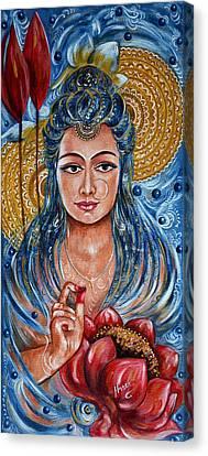 Chakra - Lotus Canvas Print by Harsh Malik