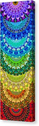 Chakra Mandala Healing Art By Sharon Cummings Canvas Print by Sharon Cummings