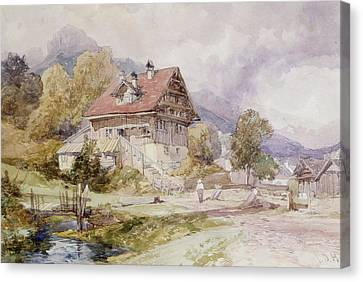 Chalet, Brunnen, Lake Lucerne Canvas Print by James Duffield Harding