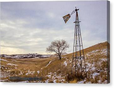 Challenge Windmill 2 Canvas Print by Chad Rowe