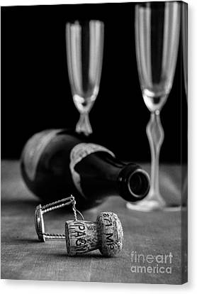 Champagne Bottle Still Life Canvas Print by Edward Fielding