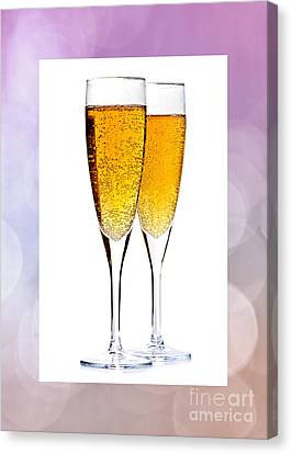 Champagne In Glasses Canvas Print by Elena Elisseeva
