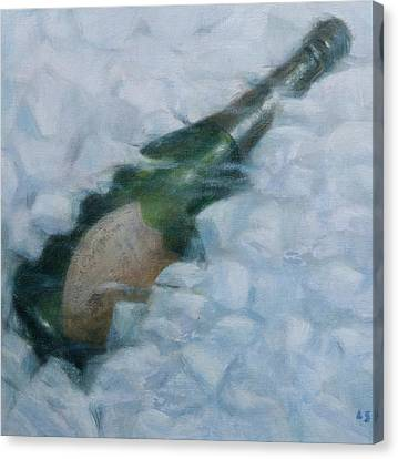 Champagne On Ice Canvas Print by Lincoln Seligman