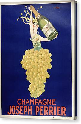 Champagne Canvas Print by Vintage Images
