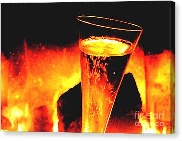 Champagne Wishes Canvas Print by Jerome Stumphauzer