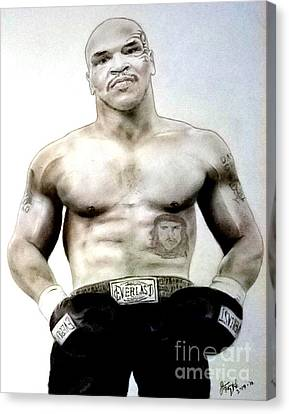 Champion Boxer And Actor Mike Tyson Canvas Print by Jim Fitzpatrick