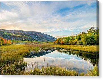 Champlain Mountain Sunset Canvas Print by Tim Sullivan