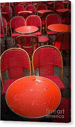 Champs Elysees Cafe Canvas Print by Inge Johnsson