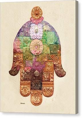 Chamsa Canvas Print by Michoel Muchnik